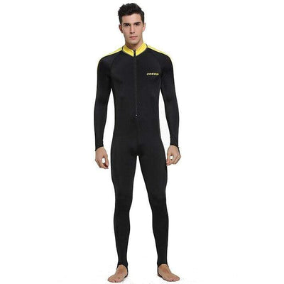 Man Black Yellow / S CRESSI Lycra Suit - Men / Women / Kids  -  Cheap Surf Gear