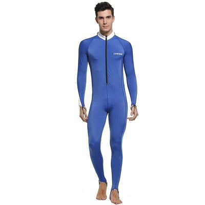 Man Blue White / S CRESSI Lycra Suit - Men / Women / Kids  -  Cheap Surf Gear