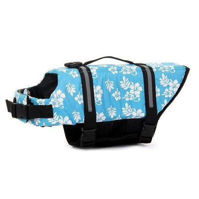 Blue Flower / XXL CSG Best Dog Life Vest  -  Cheap Surf Gear
