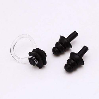 Black CSG Swimming Nose Clip And Ear Plug Set  -  Cheap Surf Gear