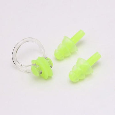 Green CSG Swimming Nose Clip And Ear Plug Set  -  Cheap Surf Gear