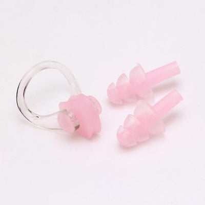 Pink CSG Swimming Nose Clip And Ear Plug Set  -  Cheap Surf Gear