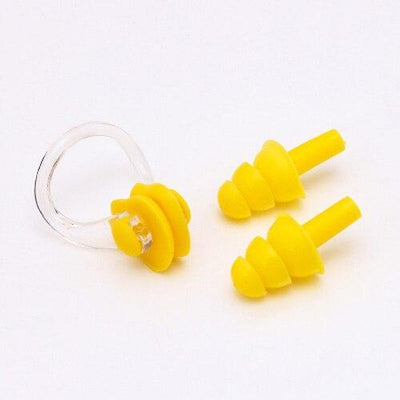 Yellow CSG Swimming Nose Clip And Ear Plug Set  -  Cheap Surf Gear