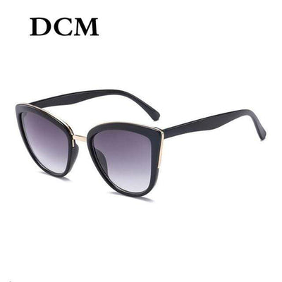 C2BlackGray DCM Cat Eye Polarized Sunglasses  -  Cheap Surf Gear