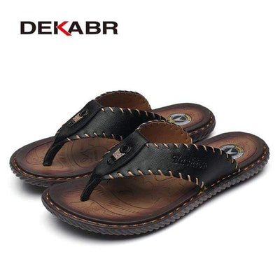 Black / 10 DEKABR Comfortable Flip Flops  -  Cheap Surf Gear