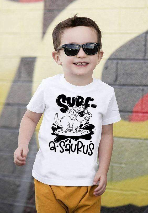 DINOSAUR Boys Surf Shirt  -  Cheap Surf Gear