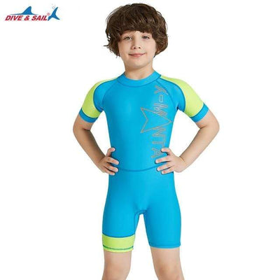 Blue / L DIVE&SAIL Kids Rash Guard  -  Cheap Surf Gear