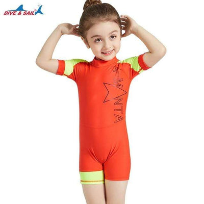 Red / L DIVE&SAIL Kids Rash Guard  -  Cheap Surf Gear