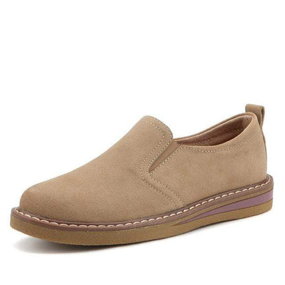01 Khaki / 6 EOFK Womens Boat Shoes  -  Cheap Surf Gear