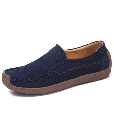 02 navy blue / 6 EOFK Womens Boat Shoes  -  Cheap Surf Gear