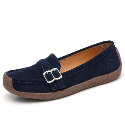 03 navy blue / 6 EOFK Womens Boat Shoes  -  Cheap Surf Gear