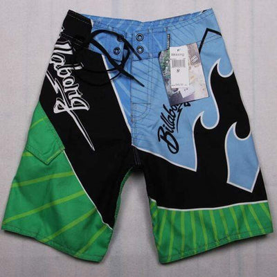 81016 green / 30 FANNAI Long Board Shorts  -  Cheap Surf Gear