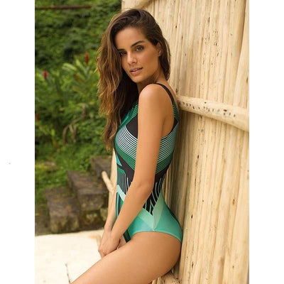 HELLO BEACH High Neck One Piece Swimsuit  -  Cheap Surf Gear