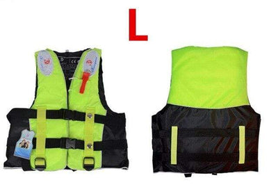 Green L HI BLACK Youth Life Jackets  -  Cheap Surf Gear