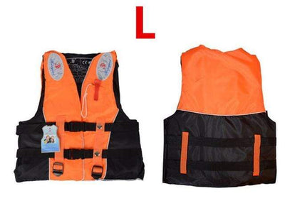 Orange L HI BLACK Youth Life Jackets  -  Cheap Surf Gear