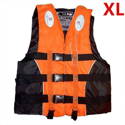 Orange XL HI BLACK Youth Life Jackets  -  Cheap Surf Gear