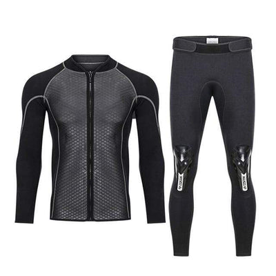 Blue / S HISEA 2.5MM 2 Piece Wetsuit  -  Cheap Surf Gear