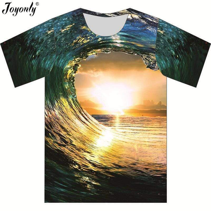 JOYONLY Waves T Shirt  -  Cheap Surf Gear