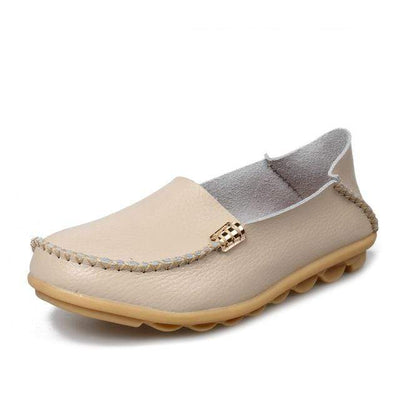 Beige / 8.5 JUIDFEAR Womens Deck Shoes  -  Cheap Surf Gear