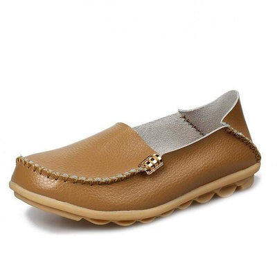 Khaki / 8.5 JUIDFEAR Womens Deck Shoes  -  Cheap Surf Gear