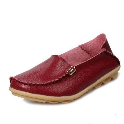 Wine Red / 8.5 JUIDFEAR Womens Deck Shoes  -  Cheap Surf Gear