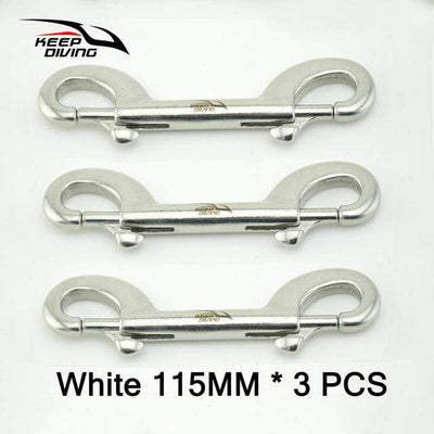 White 115MM 3PCS KEEP DIVING Stainless Steel Snap Hook  -  Cheap Surf Gear