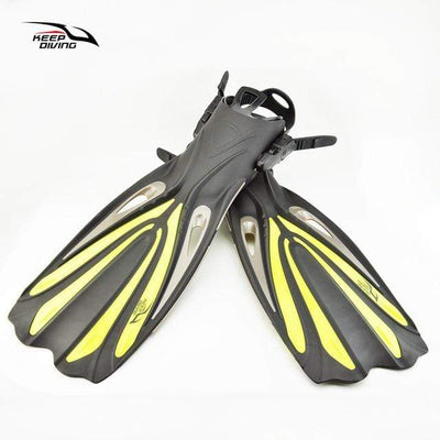 Yellow / M KEEP DIVING Water Flippers  -  Cheap Surf Gear
