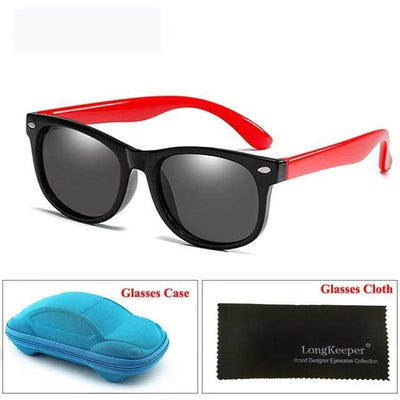 Black Red LONG KEEPER Baby Sunglasses  -  Cheap Surf Gear