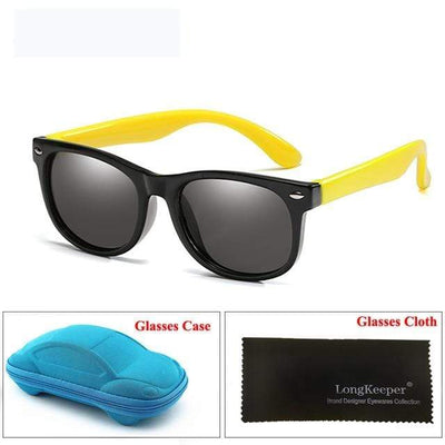 Black Yellow LONG KEEPER Baby Sunglasses  -  Cheap Surf Gear