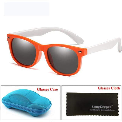 Orange White LONG KEEPER Baby Sunglasses  -  Cheap Surf Gear