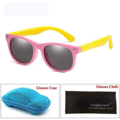 Pink Yellow LONG KEEPER Baby Sunglasses  -  Cheap Surf Gear