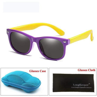 Purple Yellow LONG KEEPER Baby Sunglasses  -  Cheap Surf Gear