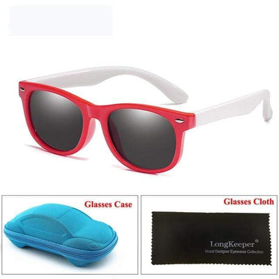 Red White LONG KEEPER Baby Sunglasses  -  Cheap Surf Gear