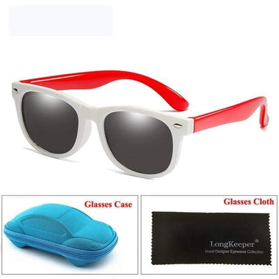 White Red LONG KEEPER Baby Sunglasses  -  Cheap Surf Gear