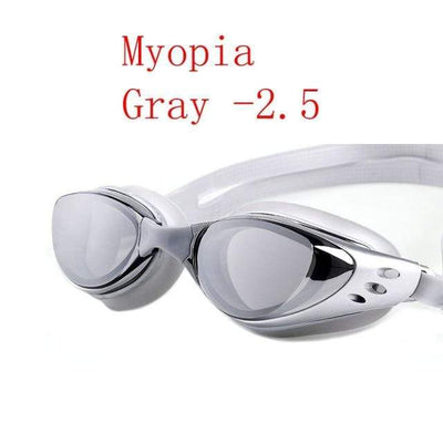 Silver LOYOL Prescripion Swim Goggles  -  Cheap Surf Gear