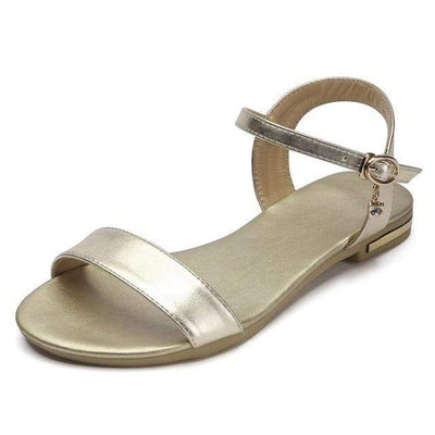 Gold (PU) / 3 MORAZORA Womens Flat Sandals  -  Cheap Surf Gear
