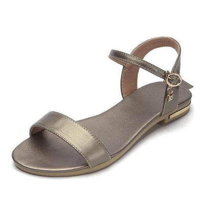Gun color (PU) / 3 MORAZORA Womens Flat Sandals  -  Cheap Surf Gear
