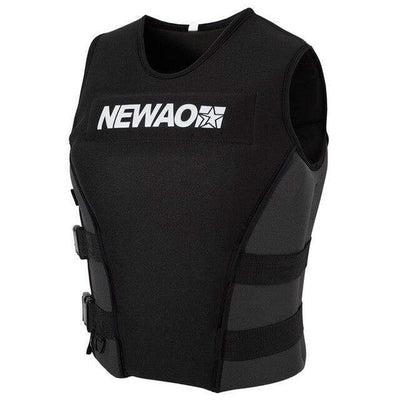 Black / XXXL NEWAO Wakeboard Vest  -  Cheap Surf Gear