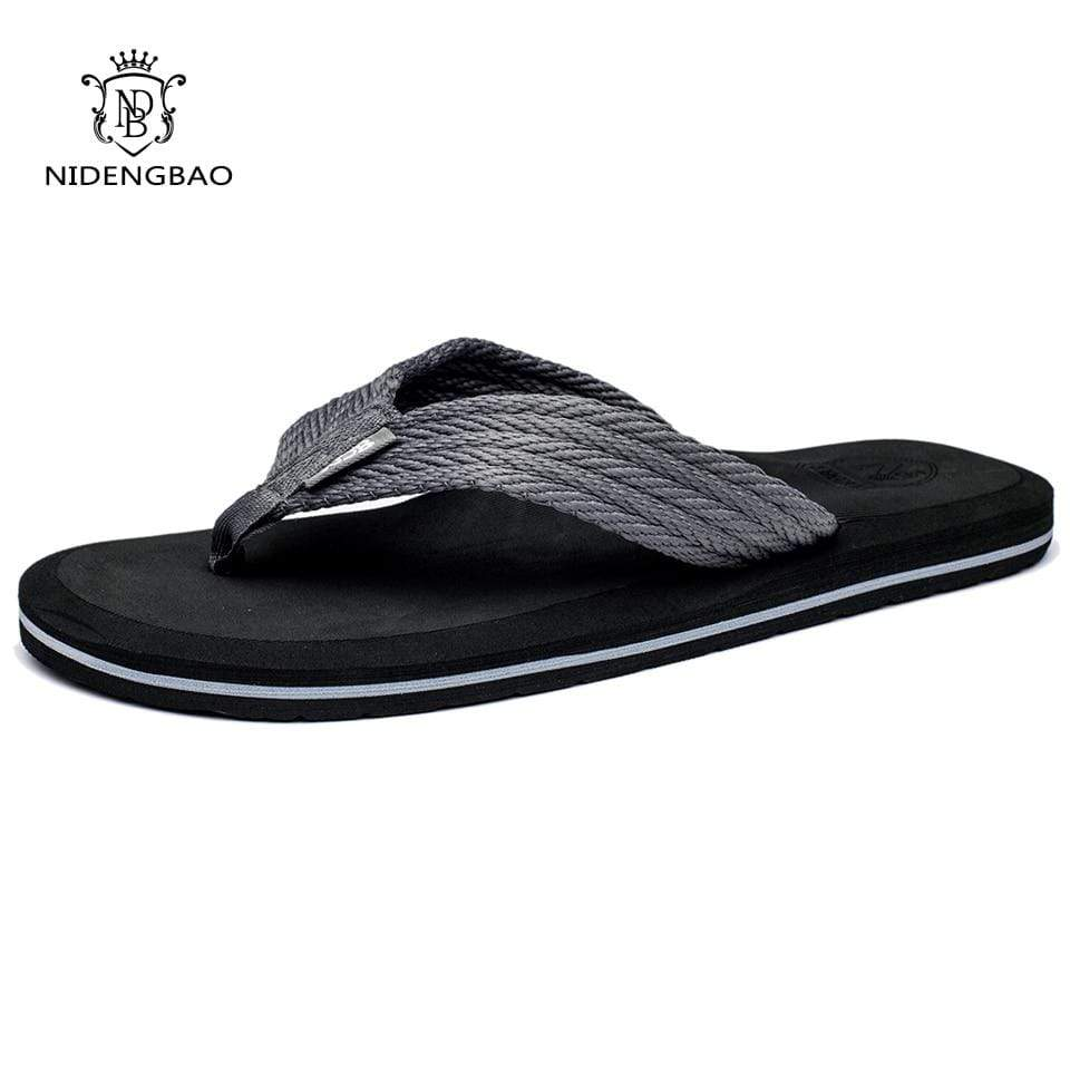 NIDENGBAO Black Flip Flops  -  Cheap Surf Gear