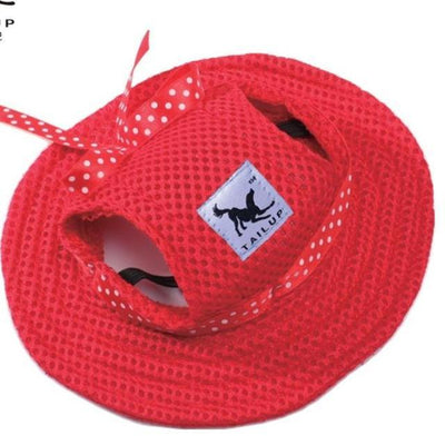 red / S NOROOMAKNET Dog Sun Hat  -  Cheap Surf Gear