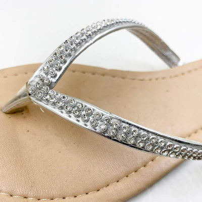 PHANCEEDA Z Silver Flip Flops  -  Cheap Surf Gear