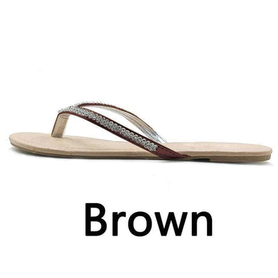 Brown / 42 PHANCEEDA Z Silver Flip Flops  -  Cheap Surf Gear