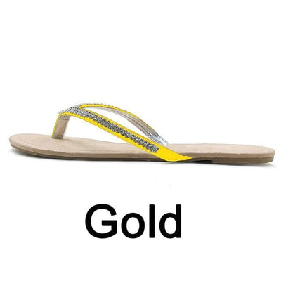 Gold / 42 PHANCEEDA Z Silver Flip Flops  -  Cheap Surf Gear