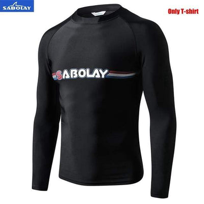 Men T-shirt / M SABOLAY Rash Guard Pants / Shirt Set  -  Cheap Surf Gear