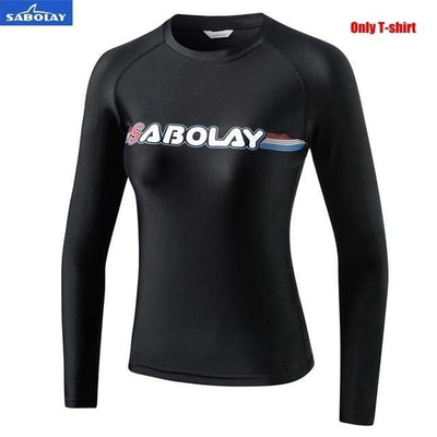 Women T-shirt / M SABOLAY Rash Guard Pants / Shirt Set  -  Cheap Surf Gear