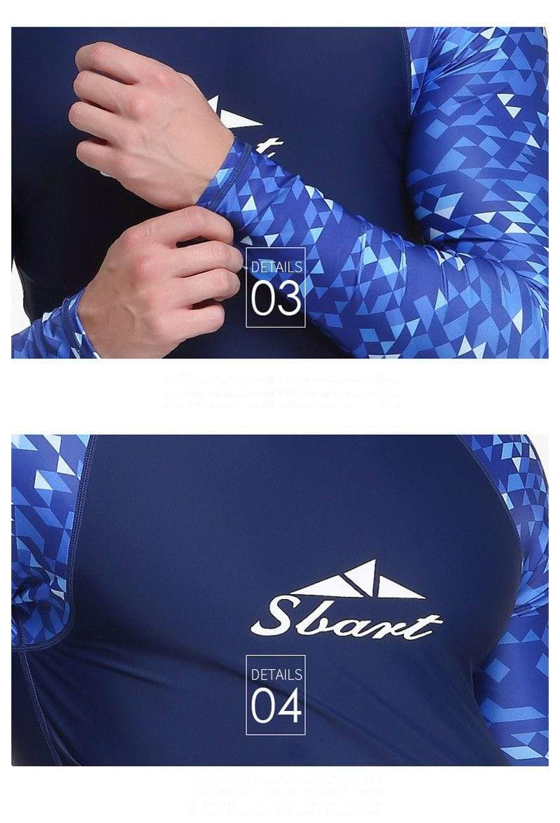SBART Quick Drying Mens Rash Guard Surf Long Sleeve  -  Cheap Surf Gear