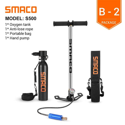 SMACO Diving Oxygen Tank With Pump  -  Cheap Surf Gear