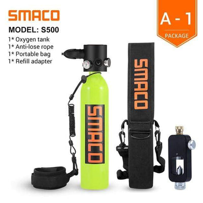 A-1 SMACO Diving Oxygen Tank With Pump  -  Cheap Surf Gear