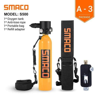 A-3 SMACO Diving Oxygen Tank With Pump  -  Cheap Surf Gear