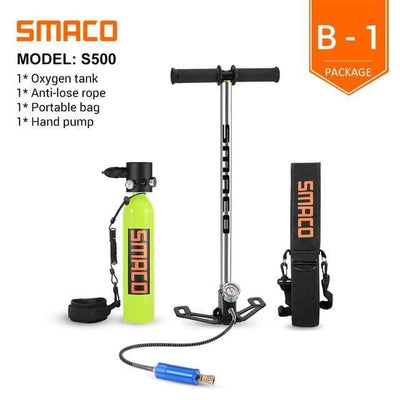 B-1 SMACO Diving Oxygen Tank With Pump  -  Cheap Surf Gear